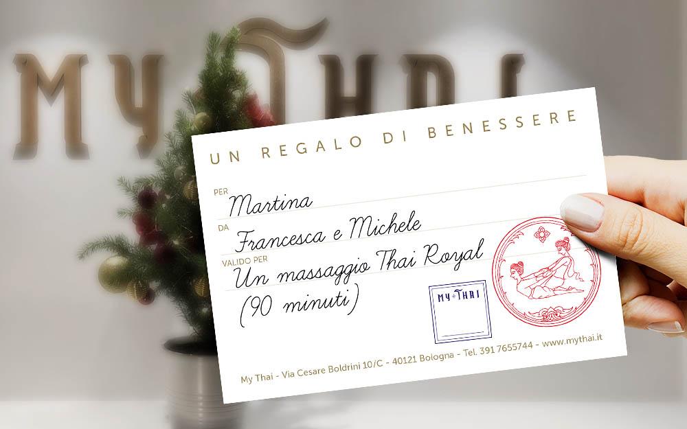 Buono regalo per un massaggio thailandese presso il Centro My Thai di Bologna